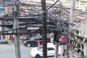 Tangled power cables - Manila - Philippines